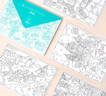 ATLAS - coloring postcards