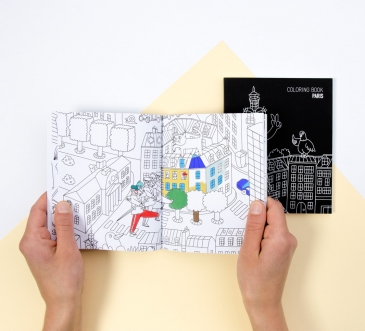 PARIS - carnet de coloriage