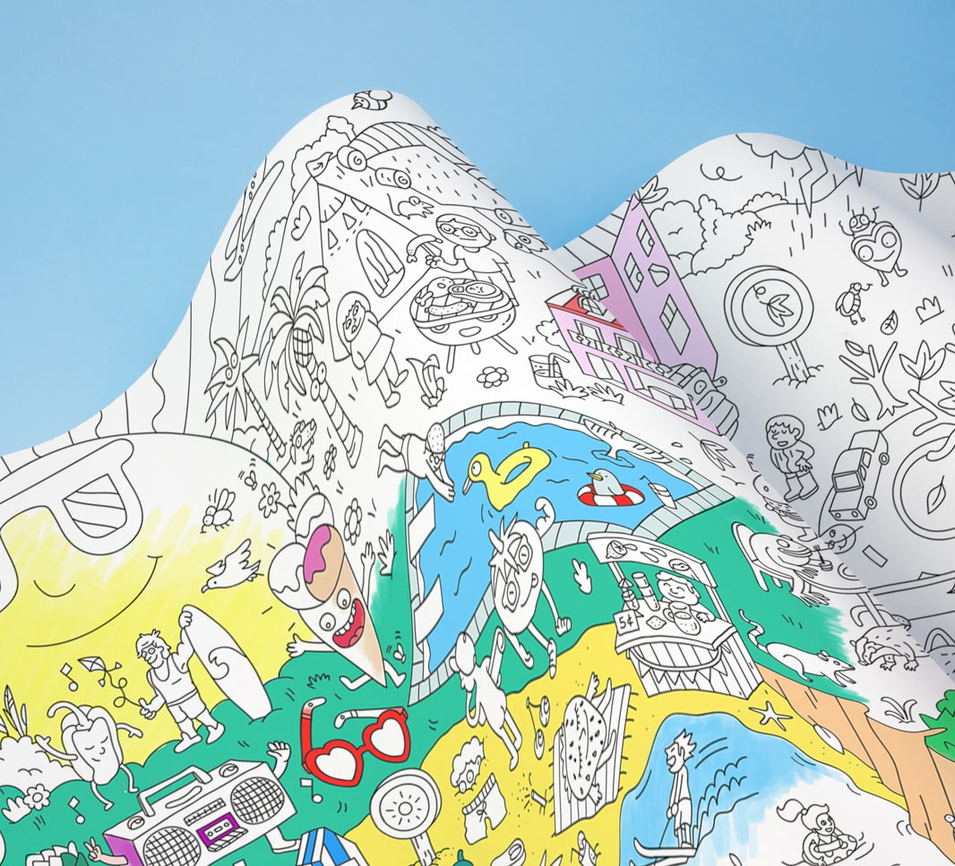 city giant coloring frieze - Giant Coloring Book