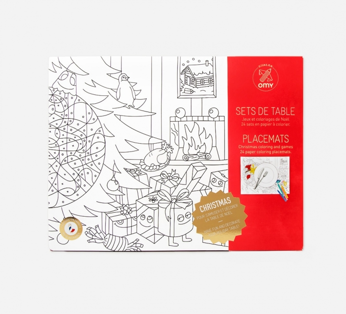 Placemat Coloring Pages Christmas