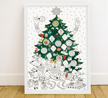 Christmas - coloring poster