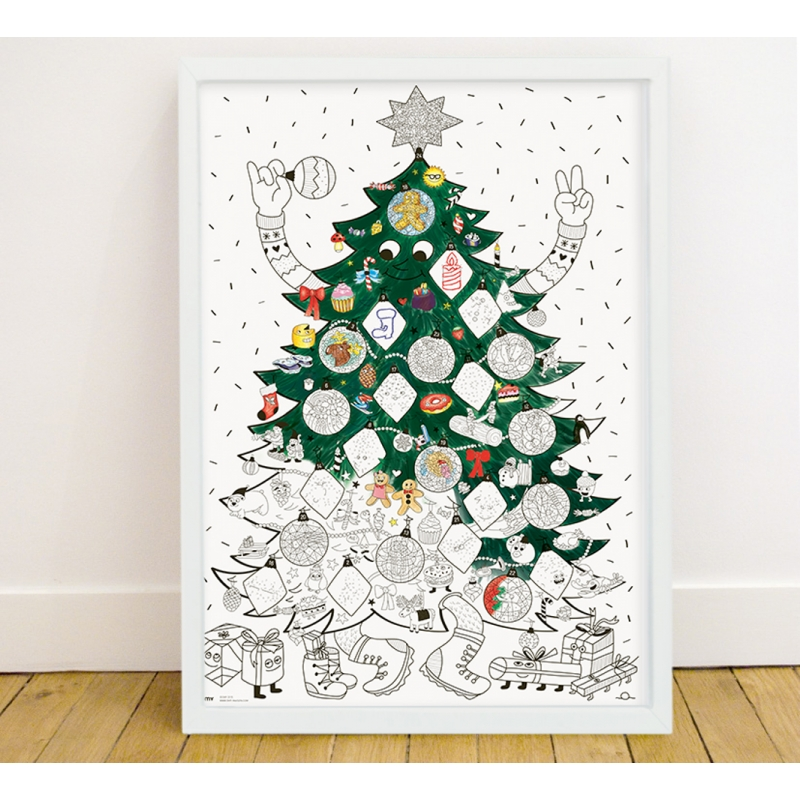 Poster Geant A Colorier Noel X Msf