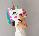 3D CARDBOARD MASK - LILY