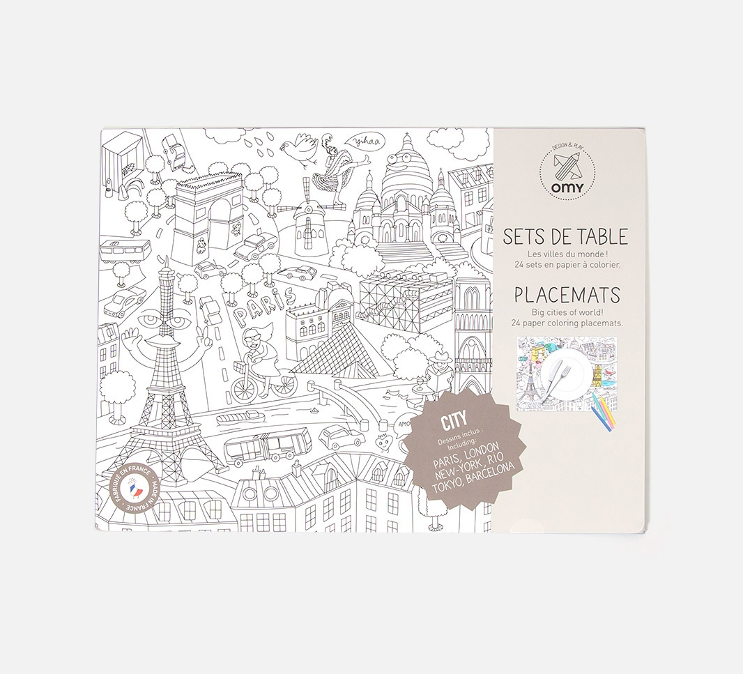 City map - Sets de table