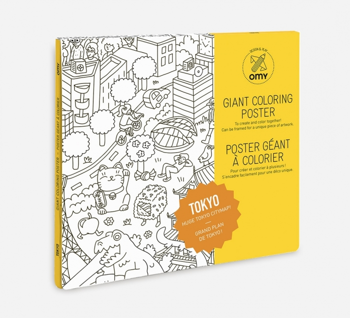 Giant Coloring Poster Tokyo