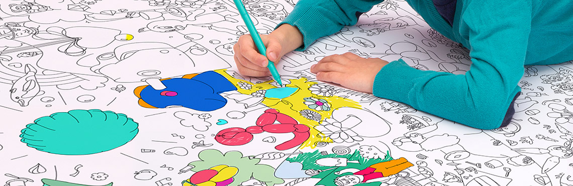 Our new Jeff Koons coloring roll - Omy