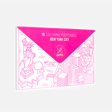 NEW YORK - coloring postcards