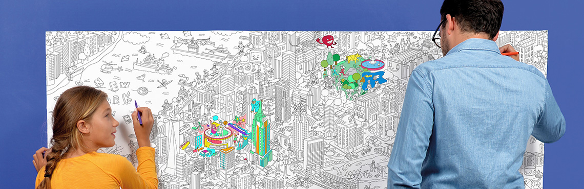 New york- - Coloriage XXL
