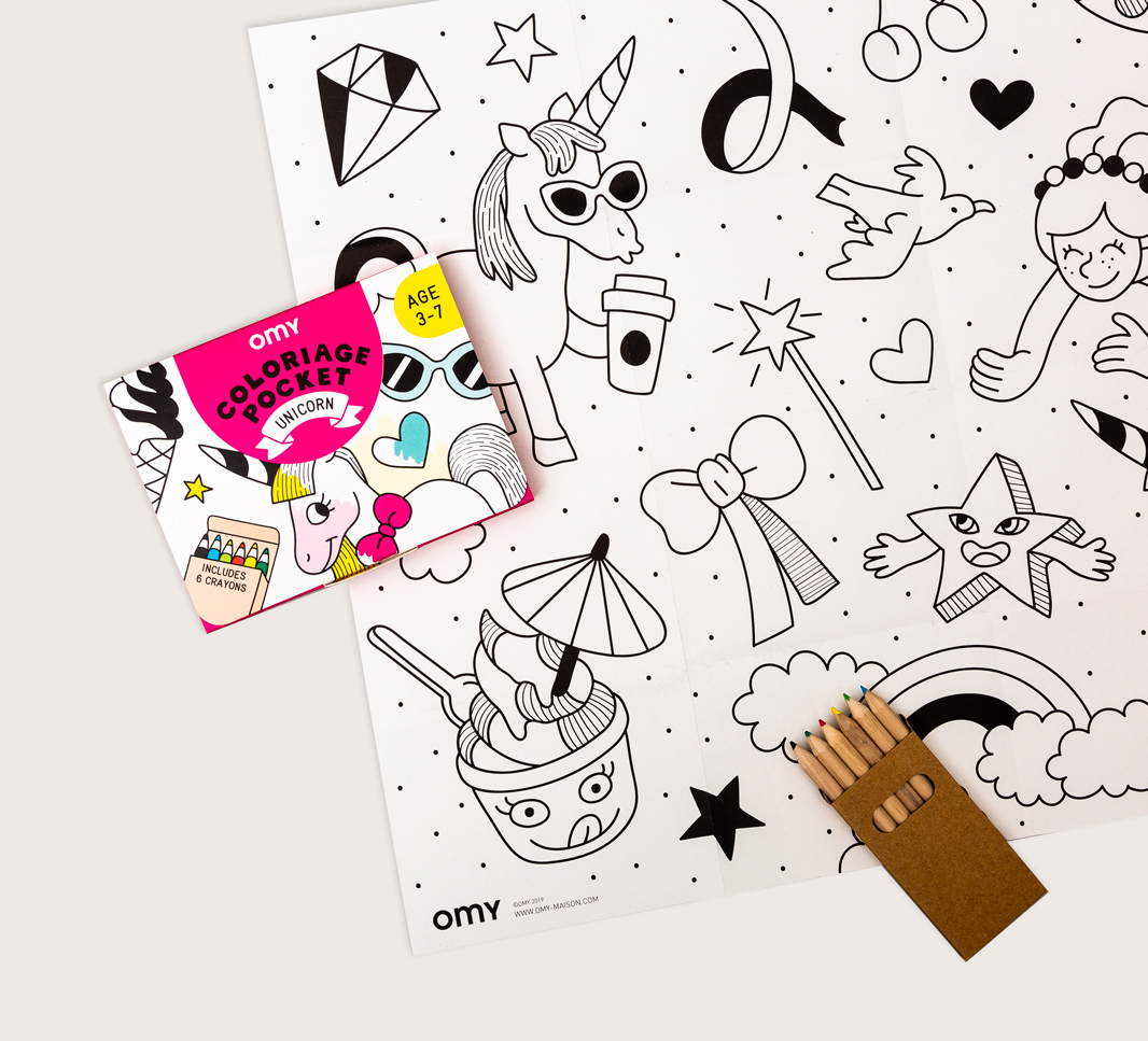 Coloriage pocket unicorn