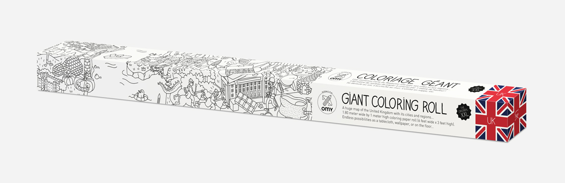 Giant coloring roll large - Omy