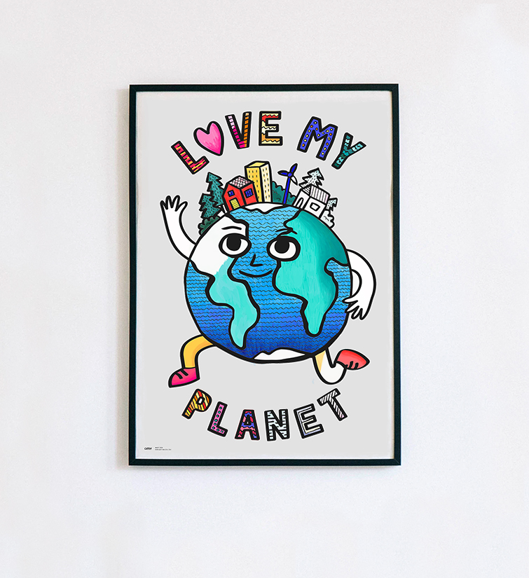 Love my planet - Poster