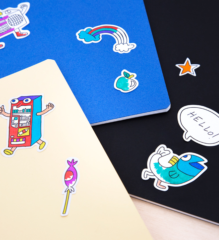 OMY-Stickers à colorier