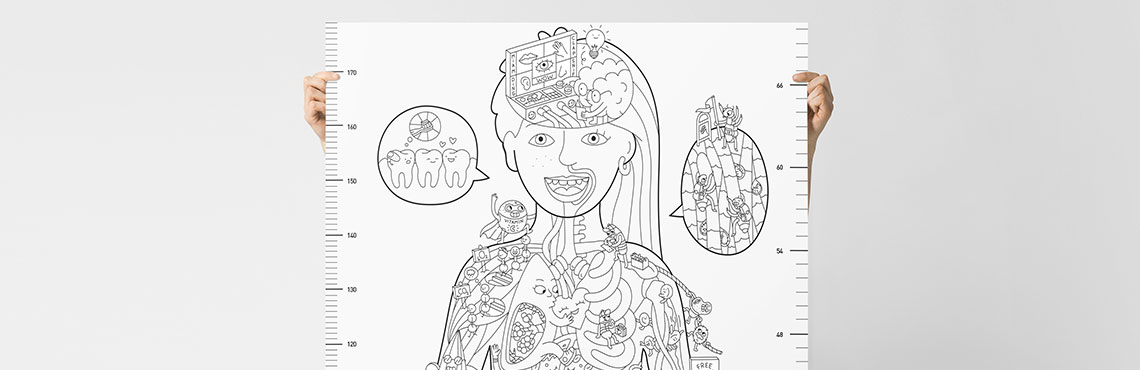 My body -  Coloriage XXL