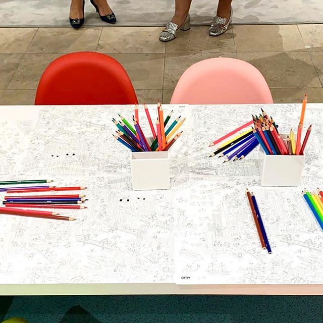 Today at @barneysny, we are celebrating the re-opening of the kids floor! Exclusive coloring placemats have been made for the occasion! Come visit if you are in NYC! #iloveomy . . . #barneysnewyork #frompariswithlove #coloring #kids #creativekids #mom #il